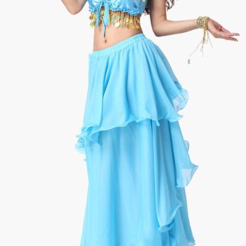 kjol för orientalisk dans i chiffong magdansös magdanskurs
