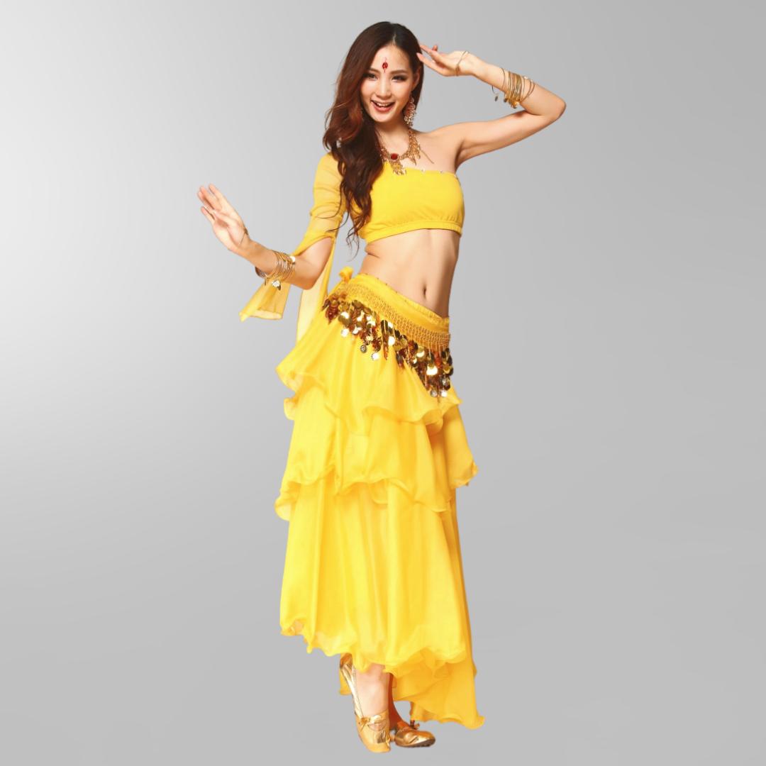 kjol för orientalisk dans i chiffong magdans danskläder