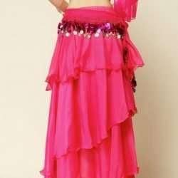 kjol för orientalisk dans i chiffong magdanskjol