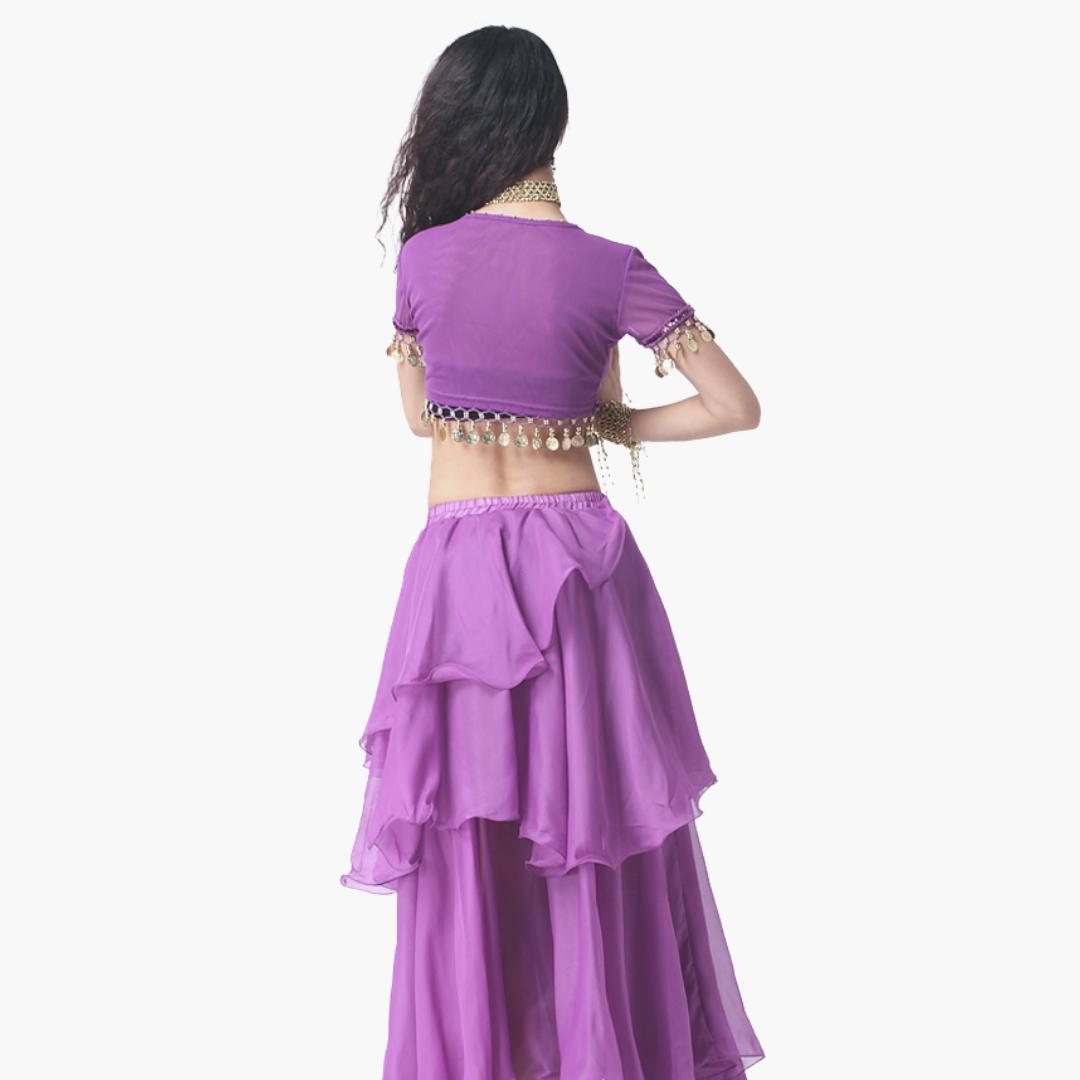 kjol för orientalisk dans i chiffong magdanskjol magdansös danskläder