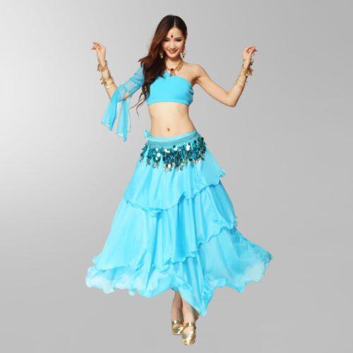 kjol för orientalisk magdans i chiffong