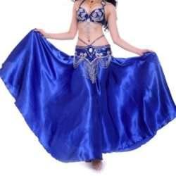 mörkblå magdans danskläder