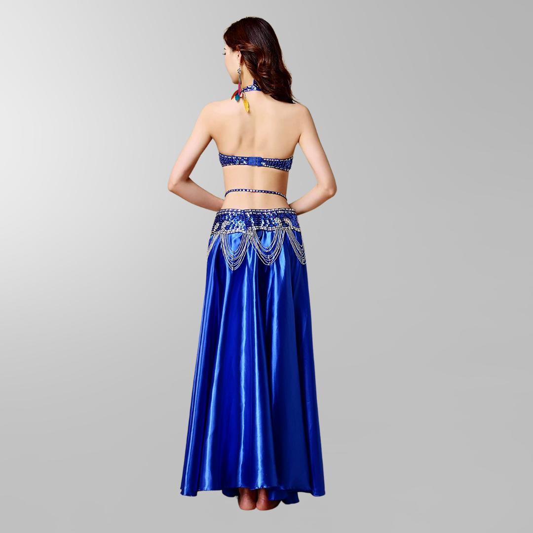 mörkblå magdans kjol1