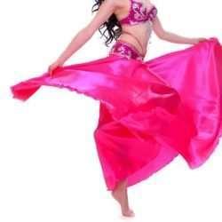 bfa1ac3ef3b Kjol för orientalisk dans i mörkrosa satin. 399kr · rosa magdans kjol4