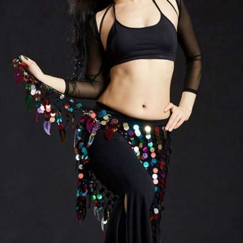 Hip scarf with sequins for belly dance in multi color - Dansöz Dance ... fa74ef340c5ab