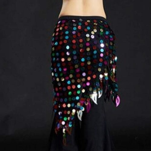 höftsjal med paljetter för orientalisk dans