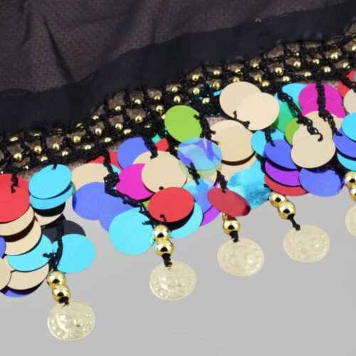 multicolor paljett myntsjal orientalisk dans2