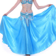 magdansdräkt kjol i glansig satin