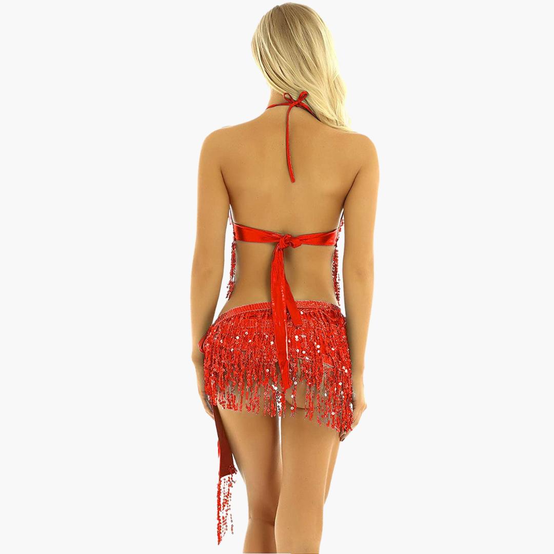 bellydance-kläde-dansa-magdans-röd-sjal