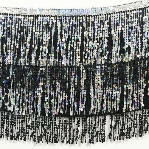 dansbälte magdans silver svart