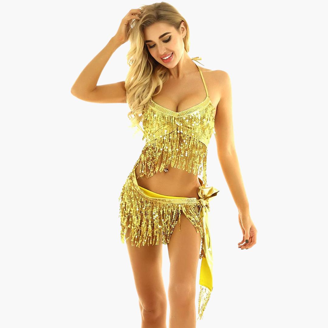 höftsjal danssjal arabiska kläder guld