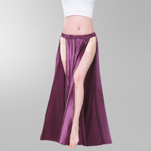 lila-kjol-satin-slits-magdans-orientalisk-dans-1