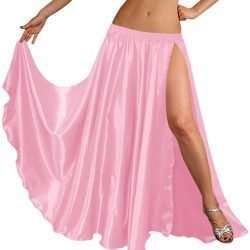 rosa-1-kjol-satin-slits-magdans-orientalisk-dans