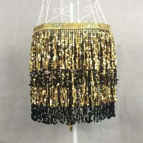 skakbälte guld svart orientalisk dans1