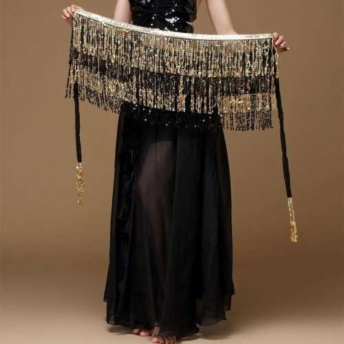 skakbälte guld svart orientalisk dans2